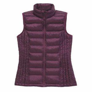 32 Degrees Women's Purple Full Zip Vest Pockets